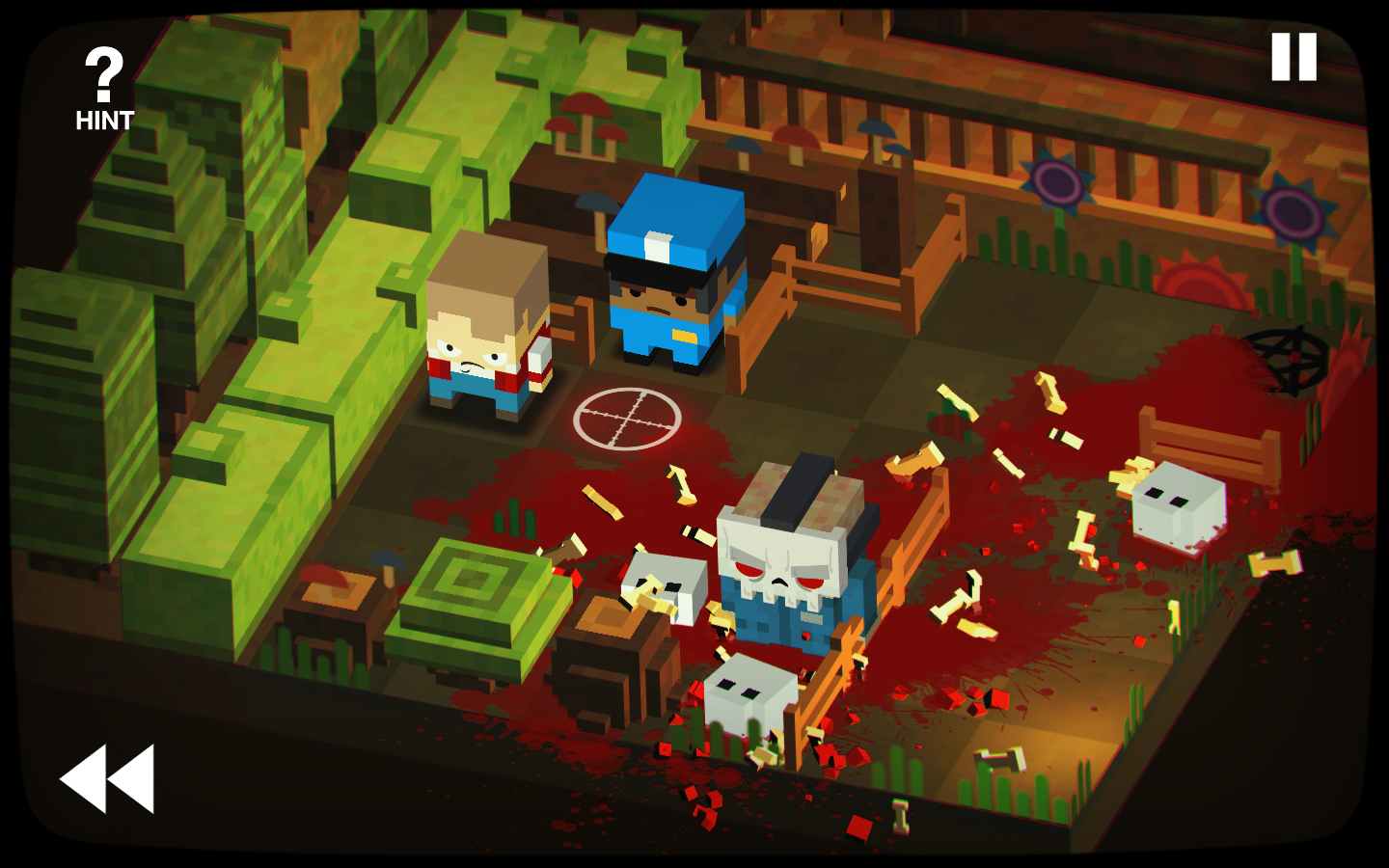 Slayaway Camp 80's slasher sliding puzzle game screenshot